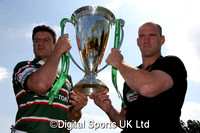 Heineken Cup Captains Photocall. Lawrence Dallaglio and Martin Corry. Bletchley RFC. 18-05-2007