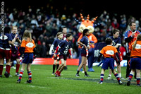 EDF Cup Semi Final. Half Time Kids Tag Rugby. Ospreys v Saracens match. 22-3-08